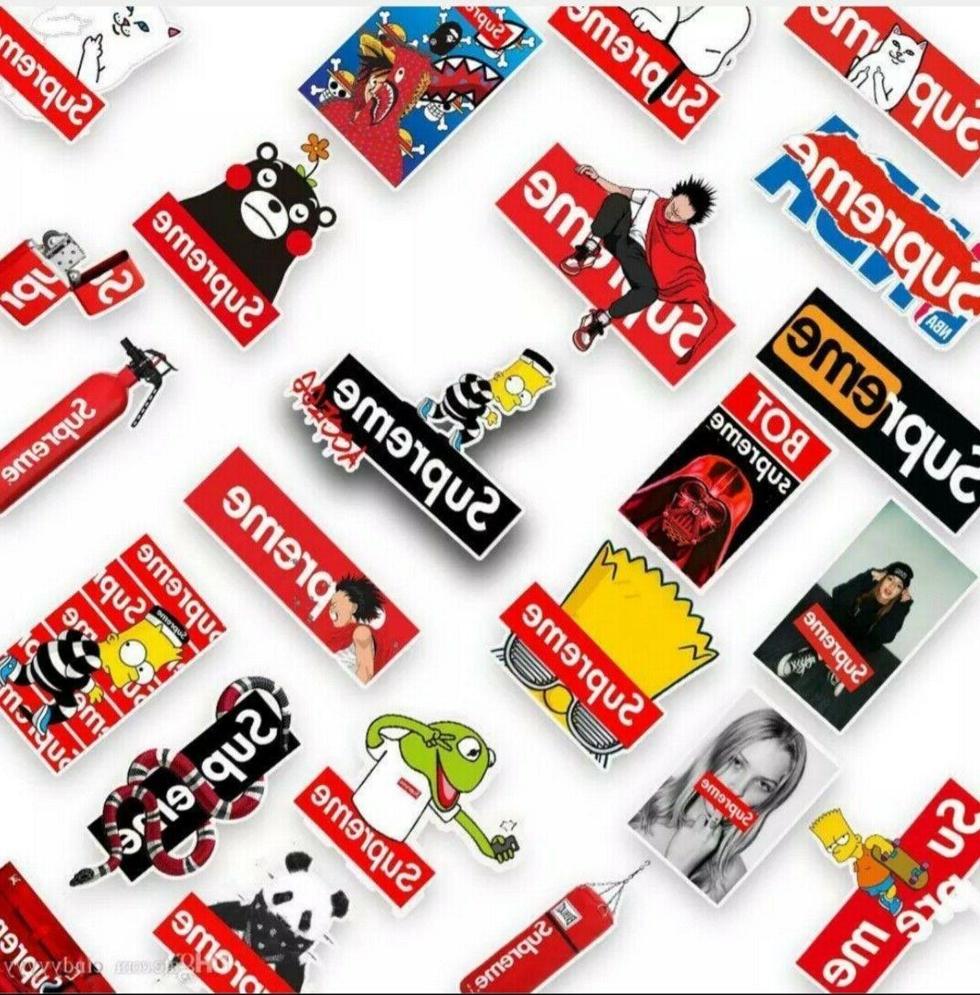 50PCS Supreme Authentic Sticker Luggage Stickers