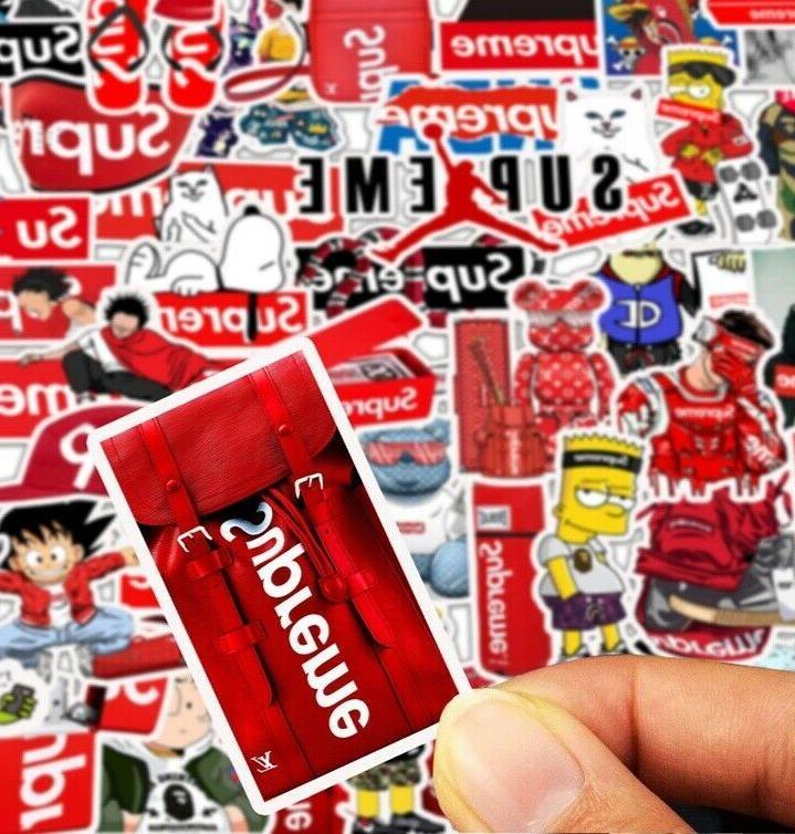 50PCS Supreme Sticker Pack Luggage Stickers