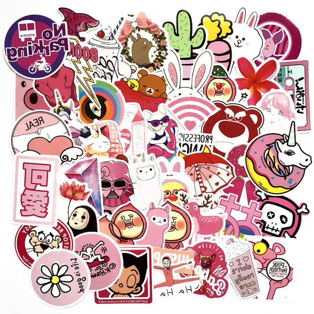 50Pcs/Lot Cute Stickers Skateboard Luggage Vinyls