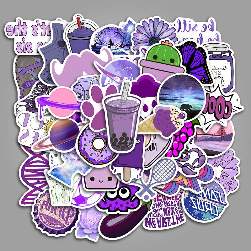 50PCS/lot INS Style Girl For Moto Skateboard Luggage Refrigerator Toy <font><b>Sticker</b></font>