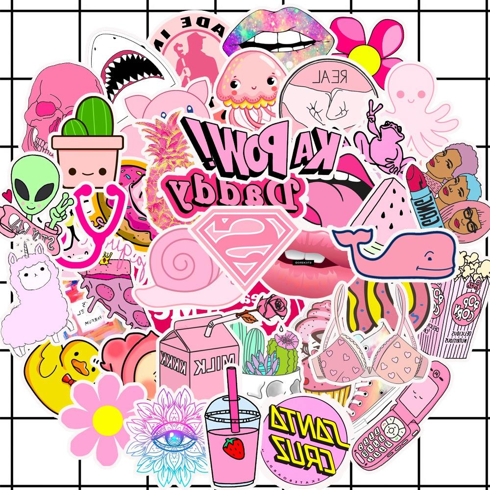 50pcs lot cartoon font b pink b