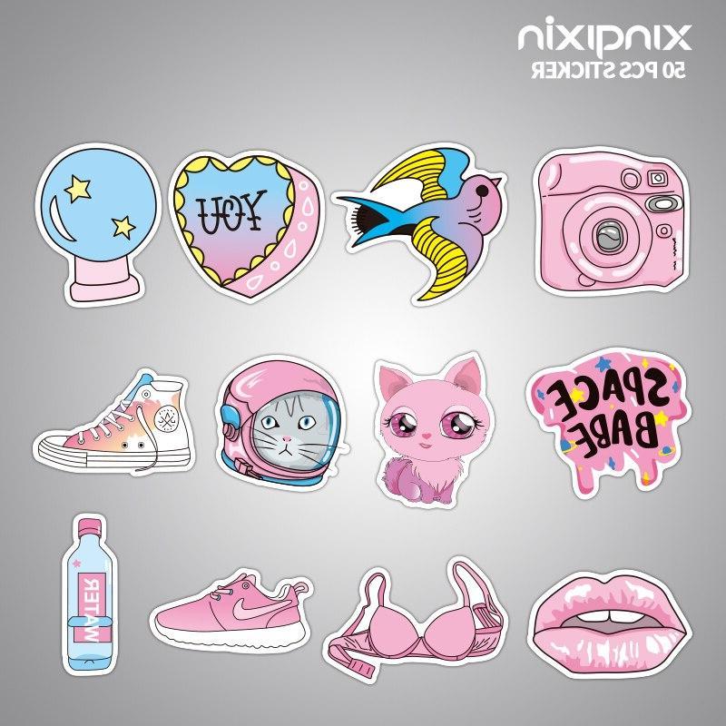50pcs/pack <font><b>Pink</b></font> Girls toys children Moto Car & Cool <font><b>Laptop</b></font>