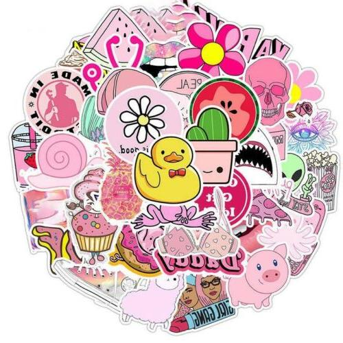 50PCS Pink For Laptop Cute Phone Girl