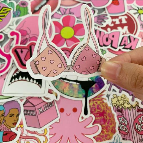 50PCS Stickers For On Sticker Cute Phone Girl Guitar