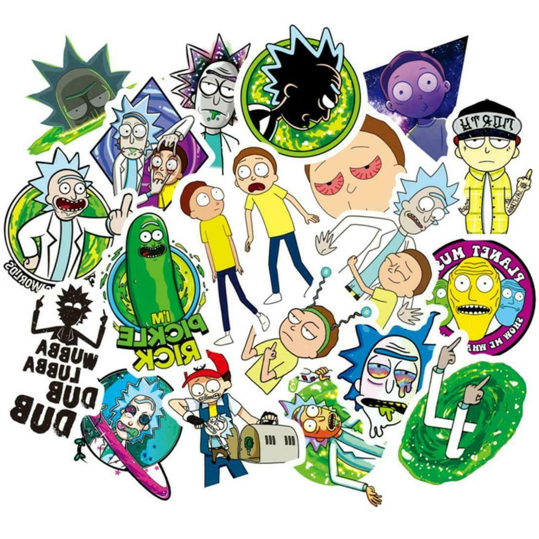 50pcs rick and morty stickers decal