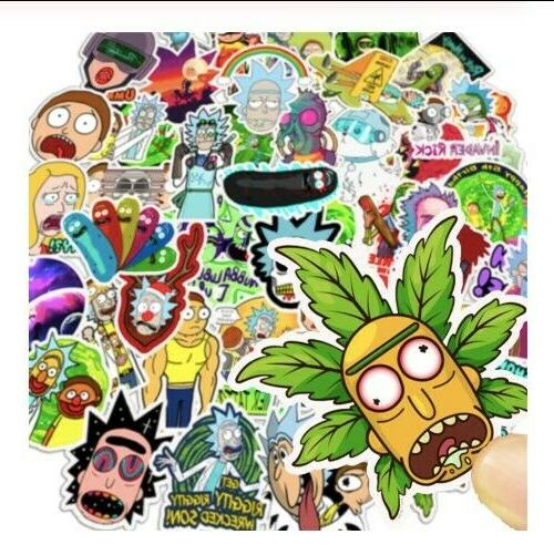 50Pcs Rick Morty Stickers Vinyl Now