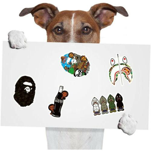 50Pcs Vinyl Sticker Bomb Skateboard A Ape Decal Pack