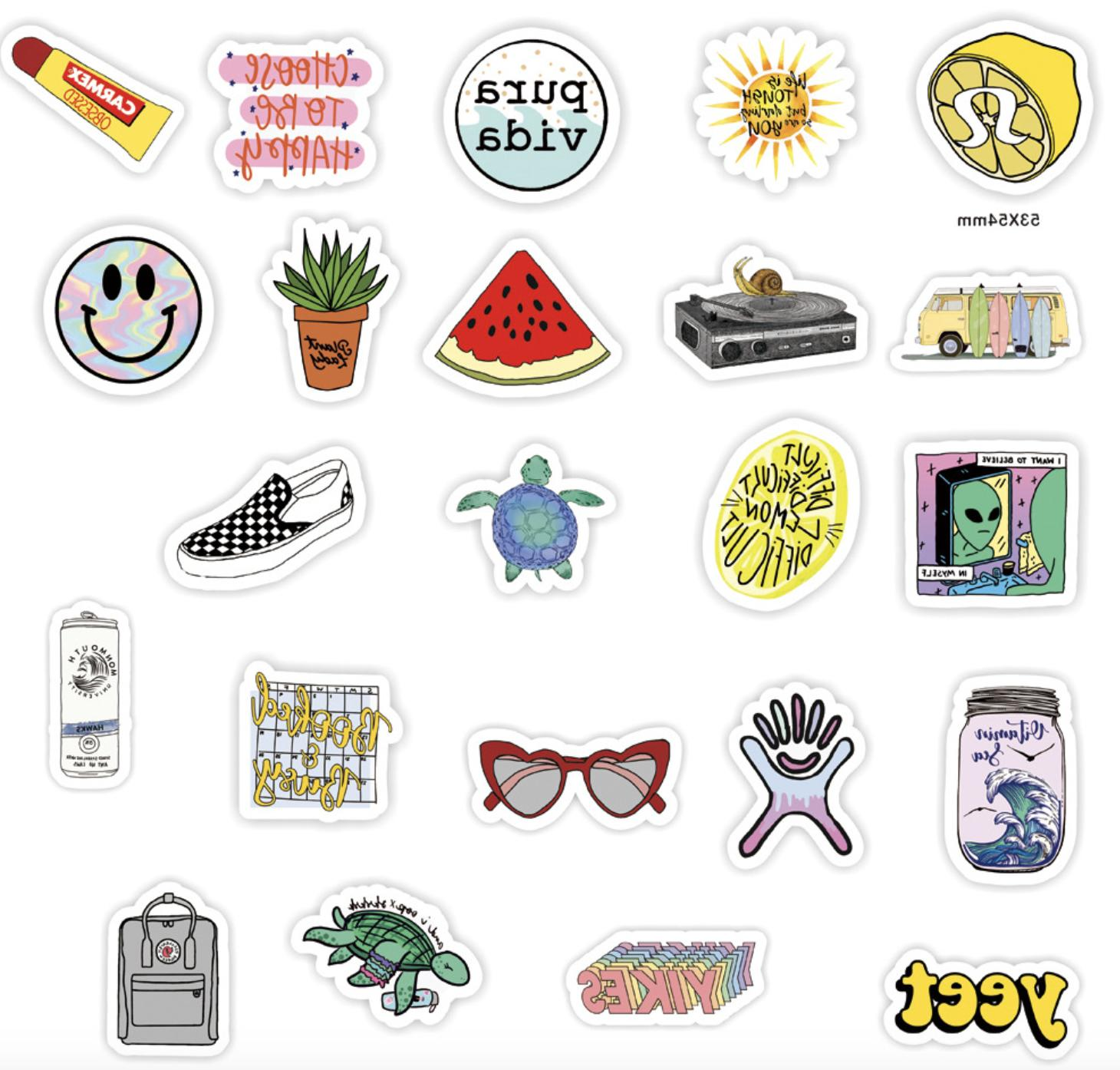 50PCS Cute Sticker Skateboard Laptop