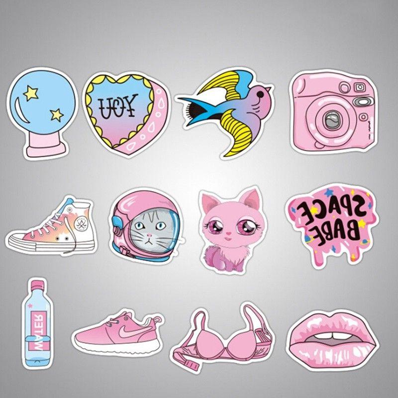 50pcs Waterproof Girls Fun Sticker Toys Car Laptop New