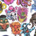 50Pcs Mixed Horror Stickers For Luggage Laptop Skateboard Bi