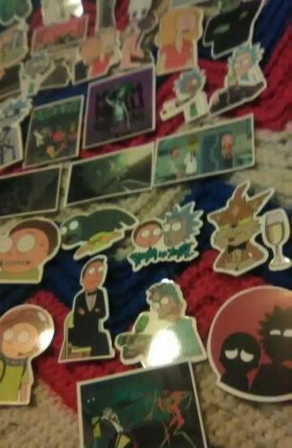 50x Rick Morty Sticker Gamer Funny 1 2 COOL!~
