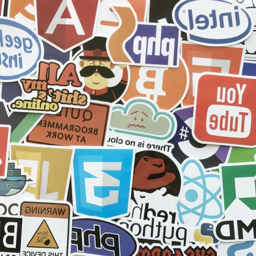 50x Developer Programming Sticker Java Php Linux Bitcoin Ubuntu Geek For Laptop