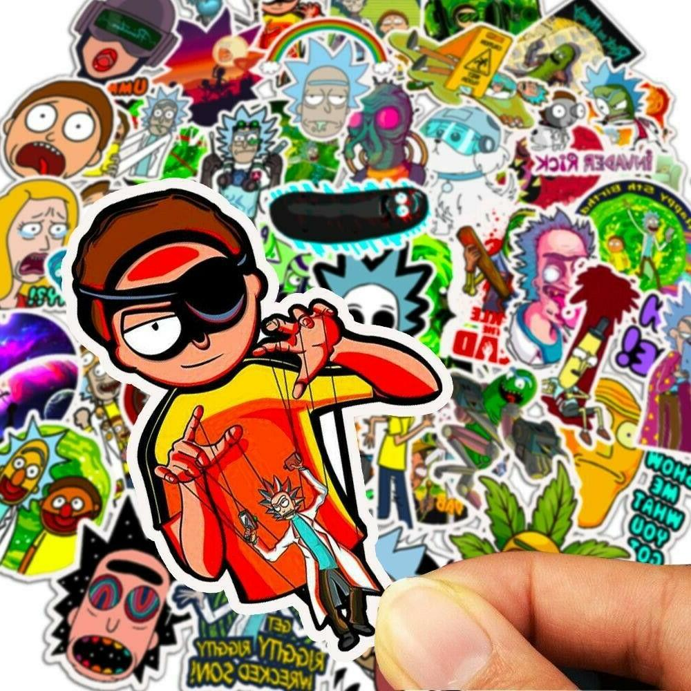 50x Rick Pickle Cartoon Stickers Hot
