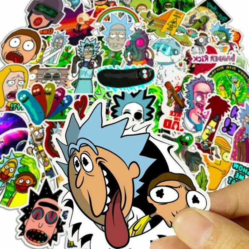 50x Rick Pickle Stickers Skateboard Laptop Car Hot