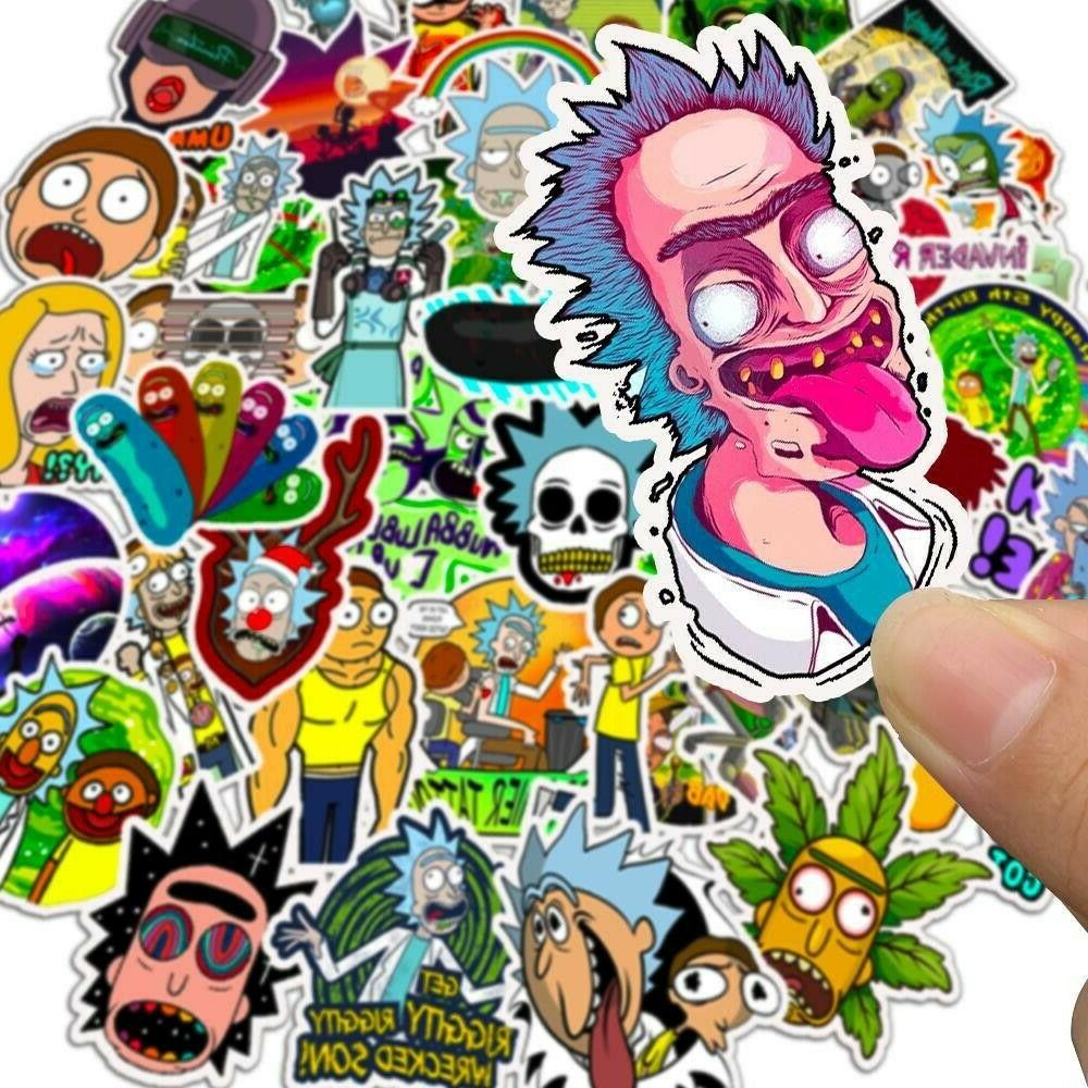 50x Rick and Pickle Cartoon Vinyl Stickers Hot