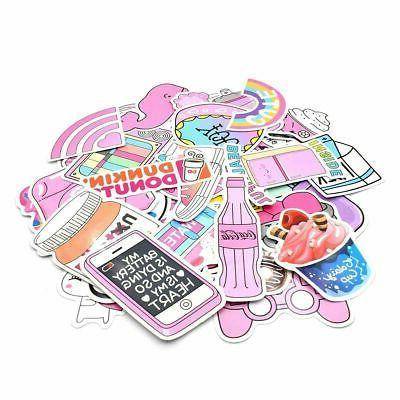52 Cute Pink Teen Girl Decal Laptop Water Luggage