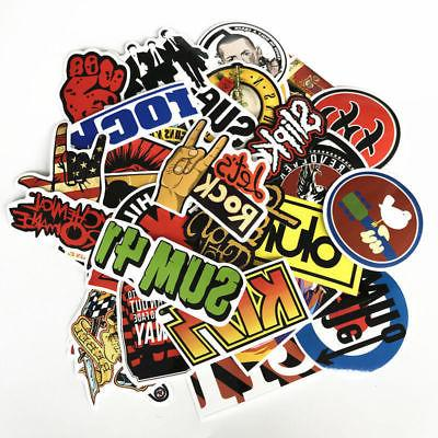 52 Stickers Lot Rock Band Punk Music Heavy Metal Bands Car Bumper