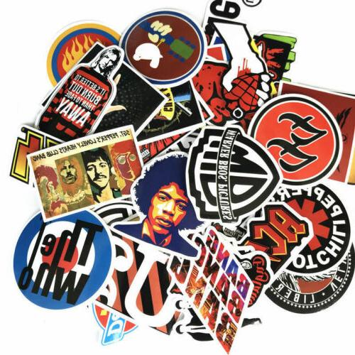 52PCS Rock Band Punk Music Metal Bands Car Bumper Sticker