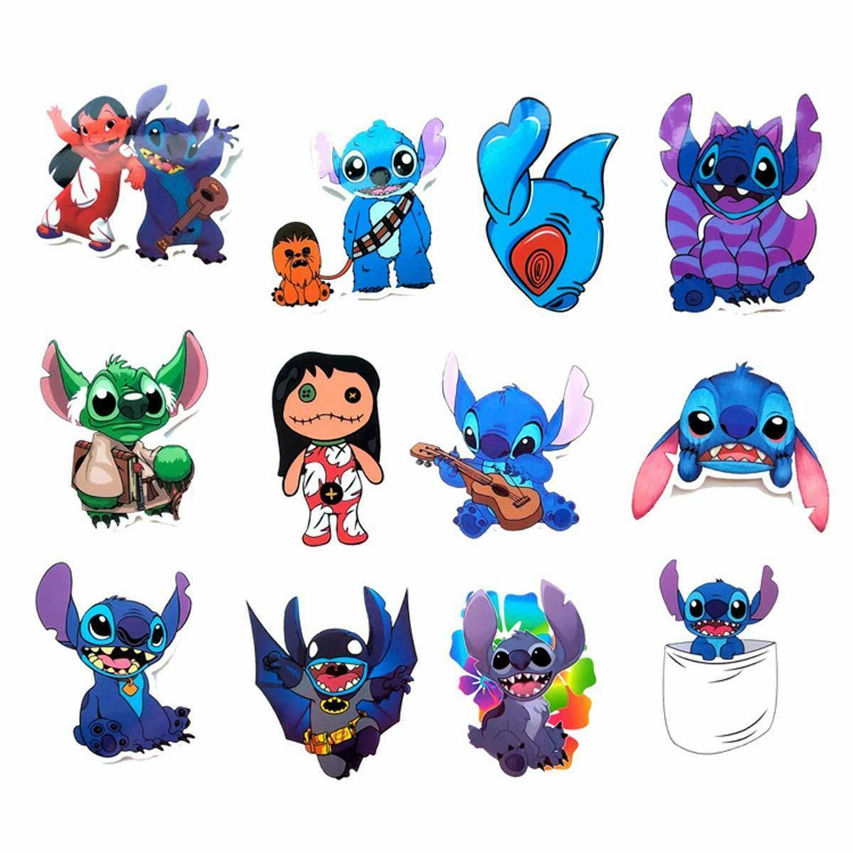 52pcs Stitch Stickers laptop waterbottle car phone,