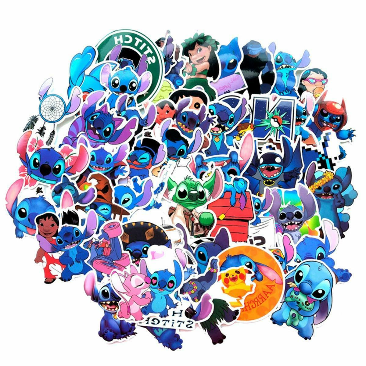 52pcs Stitch Stickers for laptop waterbottle car phone, FREE