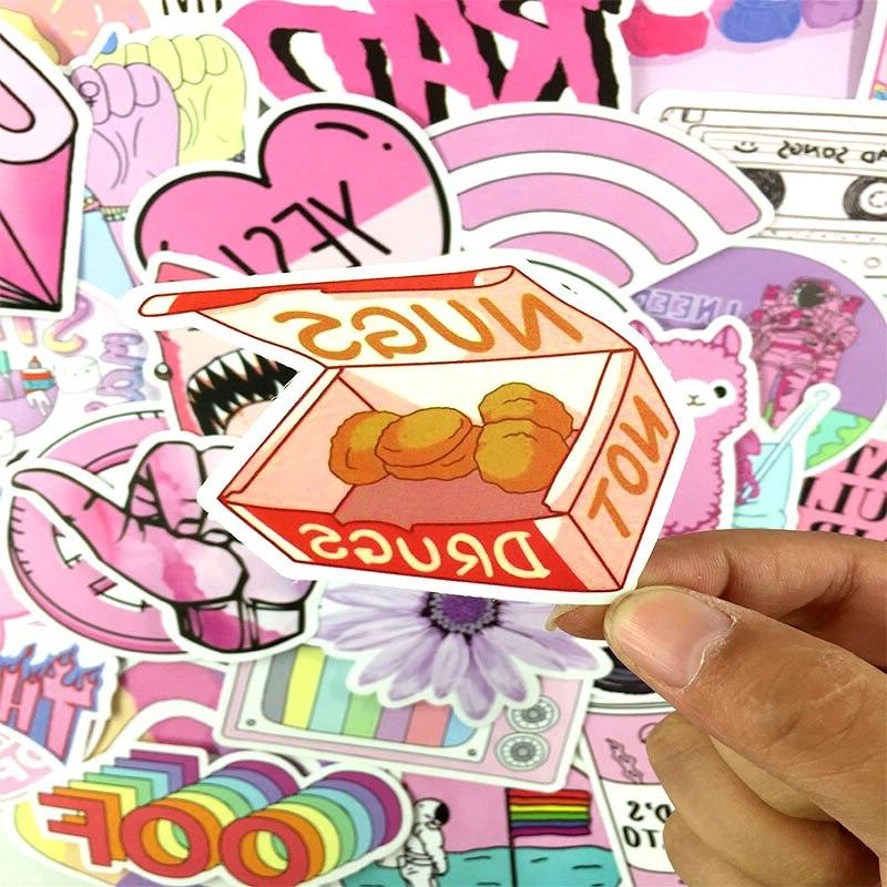 53PCS/lot <font><b>Pink</b></font> Style For Moto Luggage Refrigerator Toy