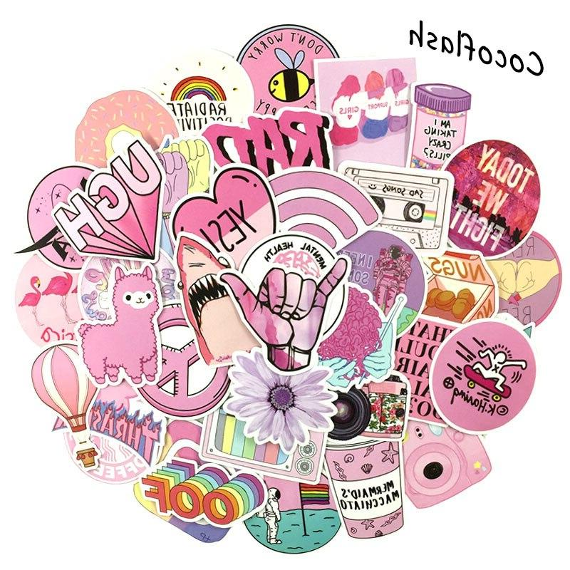 53pcs lot cartoon font b pink b