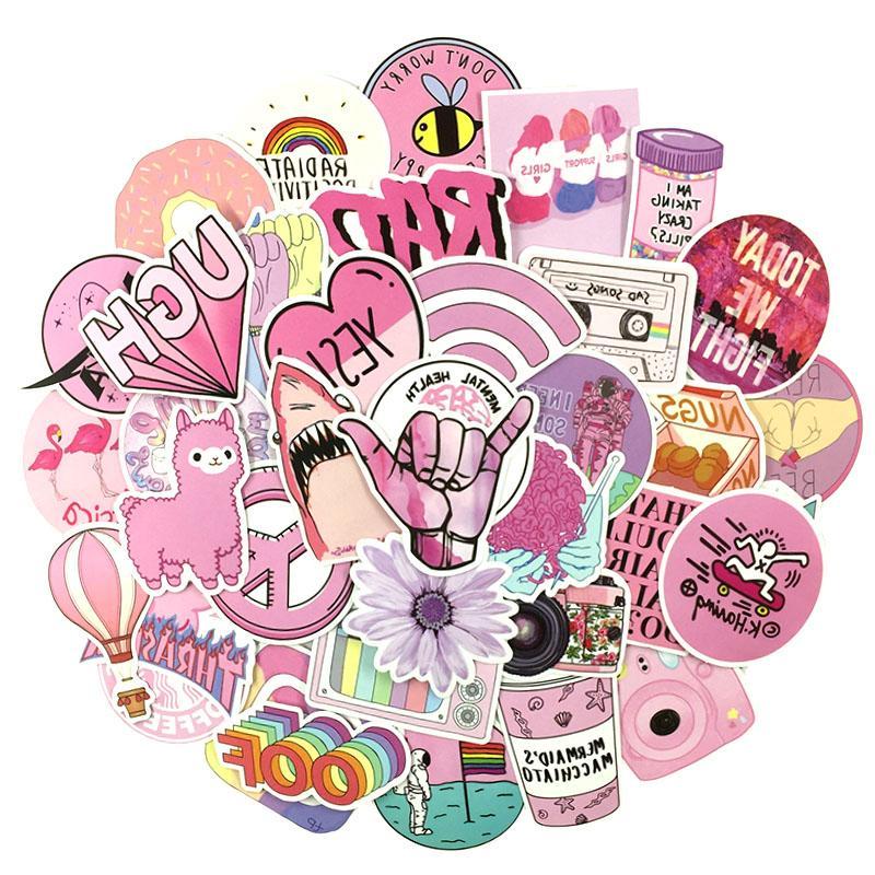 53Pcs/set Style Graffiti Girl <font><b>Sticker</b></font> <font><b>Laptop</b></font> Skateboard Motorcycle Refrigerator