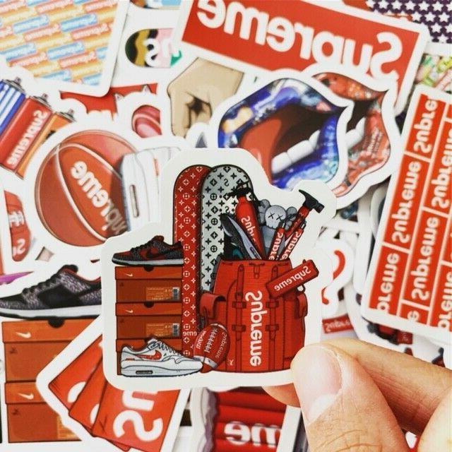 60 Supreme Streetware Stickers Set Luggage