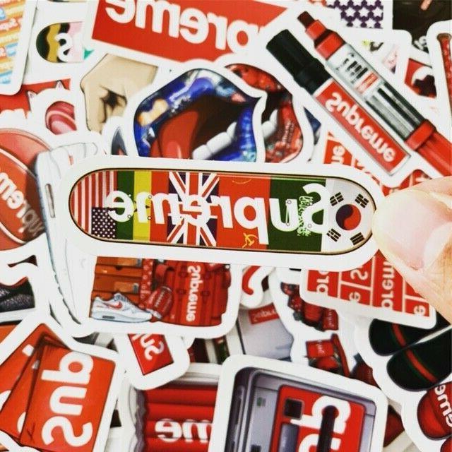 60 Supreme Streetware Hypebeast Stickers Waterproof Luggage