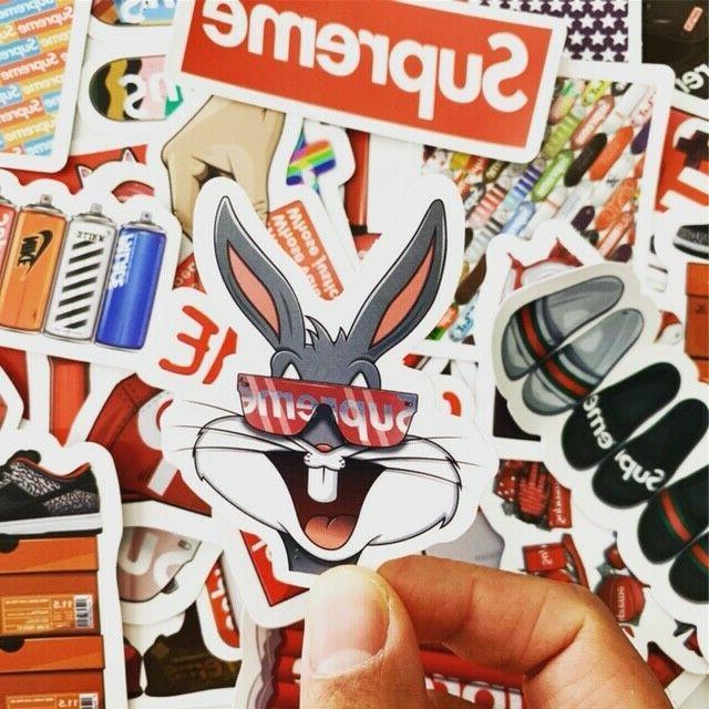 60 streetware hypebeast stickers set waterproof laptop