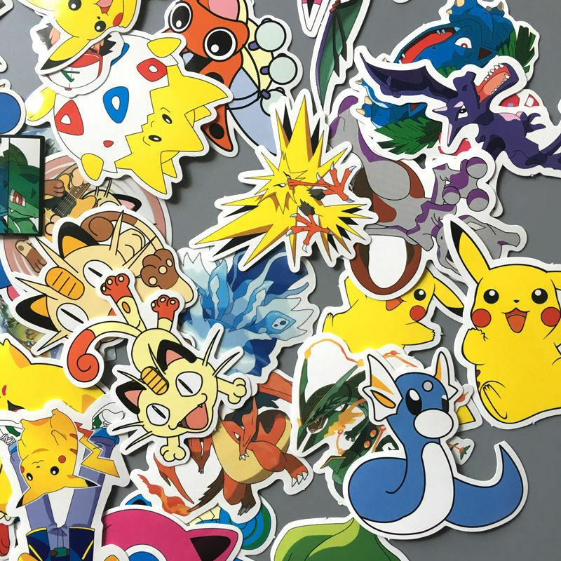 60pcs Pokemon Go Car Sticker Laptop Luggage Skateboard Bomb