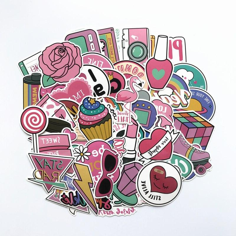 60pcs font b pink b font lovely