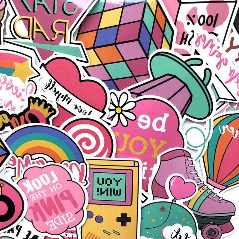 60pcs Pink Fun Moto