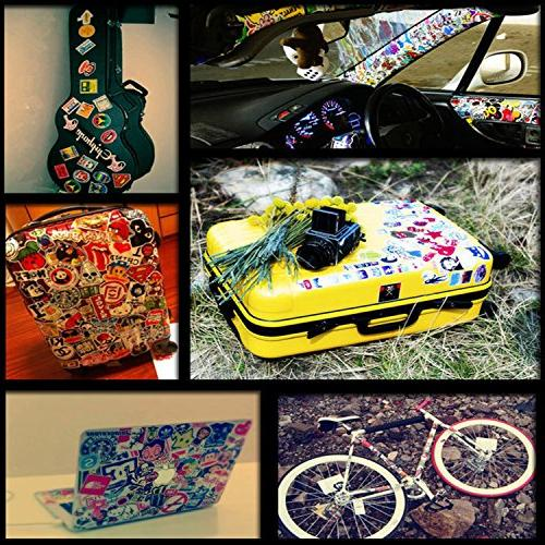 7 Series Pack 100-Pcs,Secret Garden Decals Luggage,Bumper Stickers Hippie bomb Waterproof
