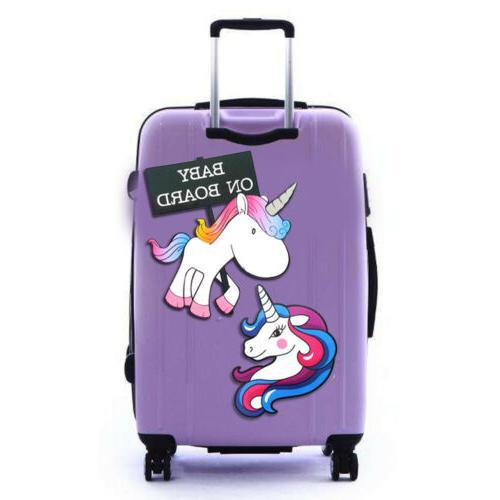 7Pcs Cute Cartoon Unicorn Sticker Travel Suitcase Decal Pet