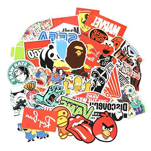 8 Stickers pcs/Pack Car Sticker Motorcycle Luggage Graffiti Skateboard Stickers Kid Adult