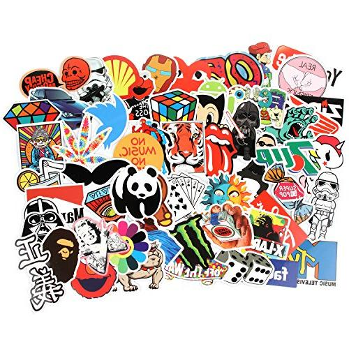 8 Stickers pcs/Pack Variety Car Luggage Decal Skateboard Stickers Adult