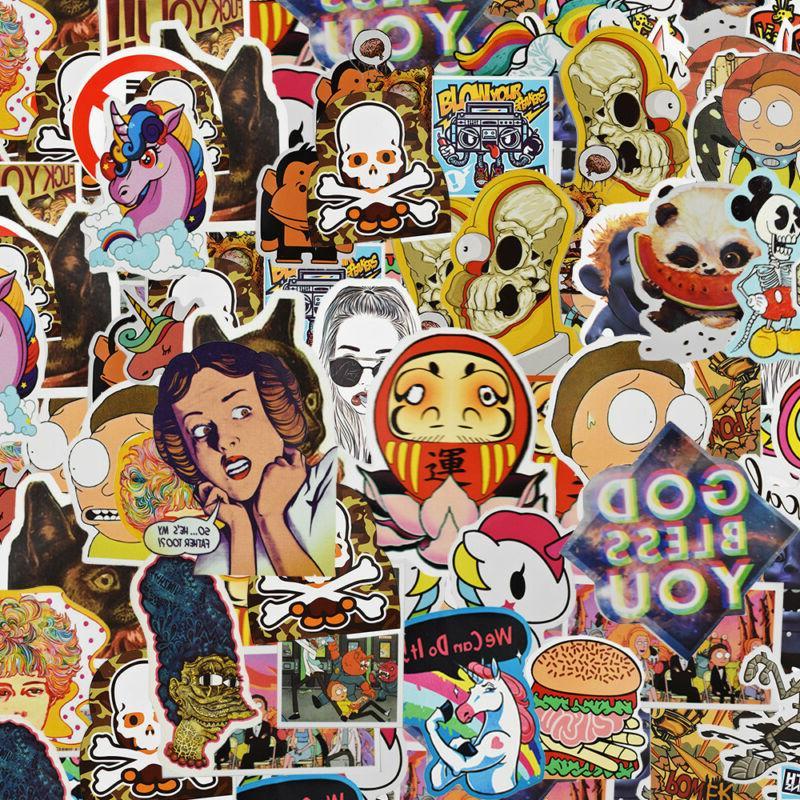 900 pcs Skateboard Stickers Graffiti Laptop Sticker Luggage