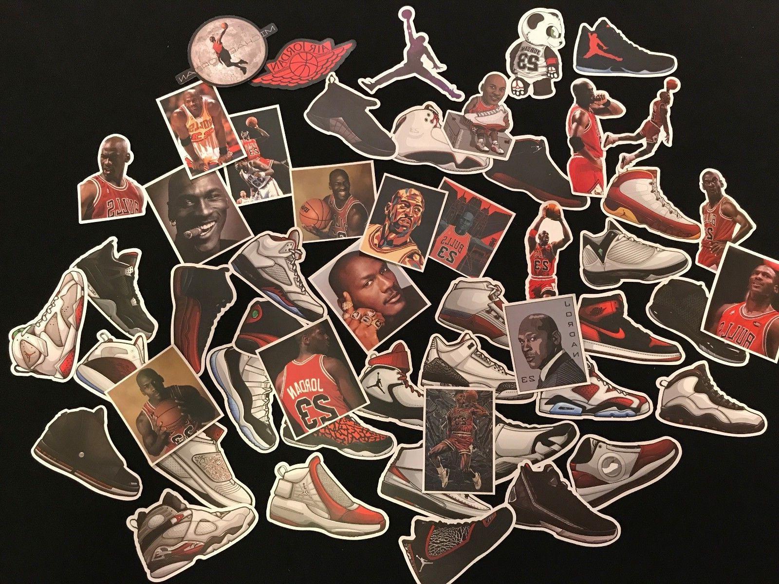 air jordan basketball shoe sticker laptop luggage