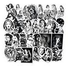 Black&White Cool Tattoo Girls Stickers For Laptop Luggage Gu