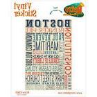 Boston Massachusetts Words Vinyl Sticker Travel Laptop Car D