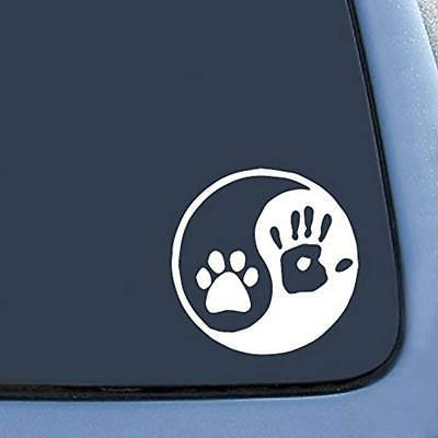 Bumper Stickers Decals & Magnets Yin Yang Human Hand Dog Paw