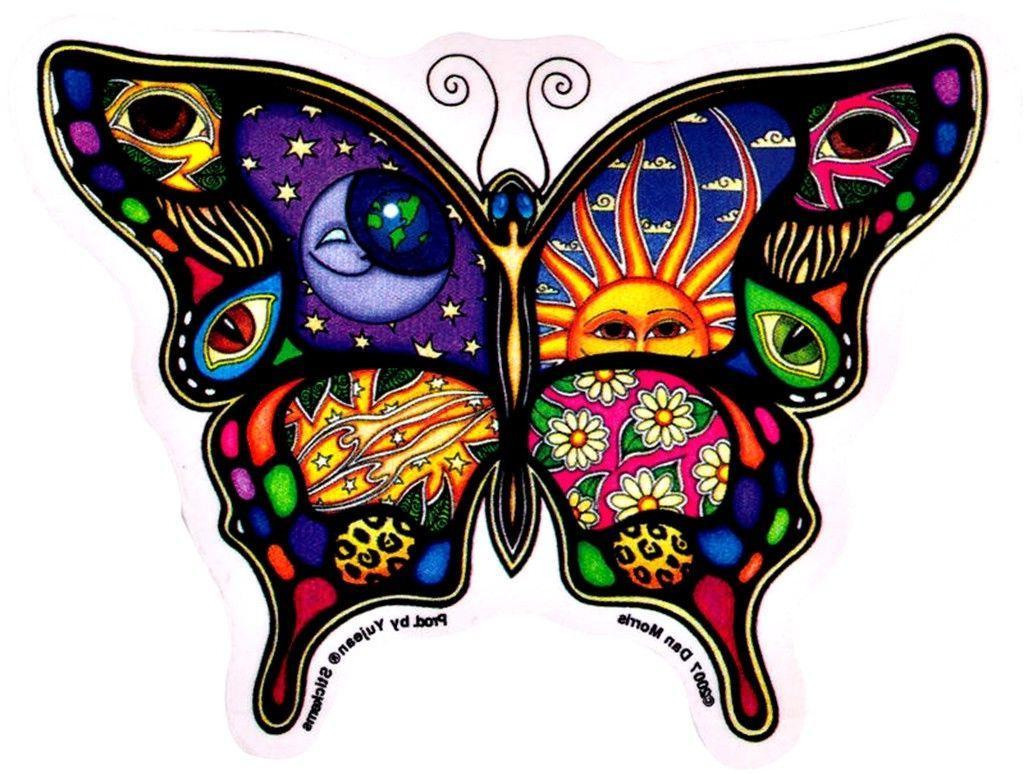 Dan Morris Butterfly Sticker Decal Laptop Yeti Tumbler Hippi