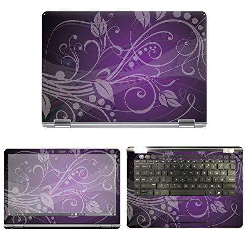 decalrus - Protective Decal Floral Skin Sticker for HP Pavil