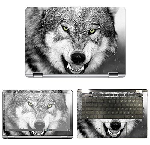 Decalrus - Protective Decal Wolf Skin Sticker for HP Pavilio