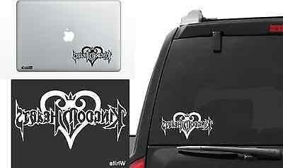 Kingdom Hearts Logo Vinyl Decal Laptop Sticker Die