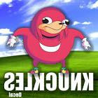 Knuckles Meme Sonic Funny Fake Queen Spit Ebola Stickers Dec