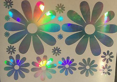 Large Daisy Daisies Flower Rainbow Holographic Car Decal Sti