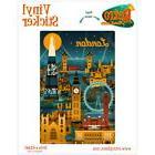 London City Nightlife Art Deco Vinyl Sticker Travel Car Bump