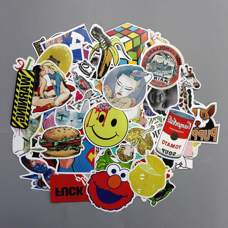 Lot 100 Random Laptop Stickers bomb Luggage